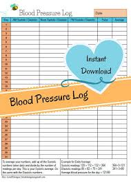 Blood Pressure And Heart Rate Chart By Age Monthly Blood Pressure Chart Systolic Diastolic Blood Pressure Readings Blood Pressure Numbers Heart Rate Log Instant Download