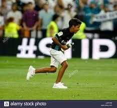 Madrid, Spain. 16th Aug, 2017. Cristiano Ronaldo jr during the Stock Photo  - Alamy