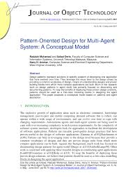 Pattern Oriented Design Pdf Pattern Oriented Design For Multi Agent System A