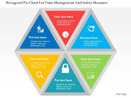 Hexagonal Pie Chart For Time Management And Safety Measures