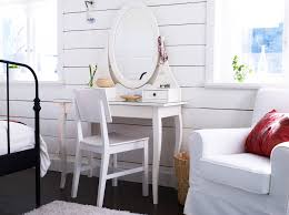 mirrored make up table with white wooden hutches and vanity chair the most favorite bedroom