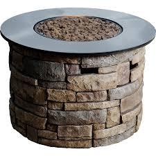 propane patio fire pit. Bond Canyon Ridge 36.6-in W 50,000-BTU Brown Composite Liquid Propane Fire Column Patio Pit