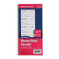 Amazon Com Adams Money And Rent Receipt Book 2 Part Carbonless 5