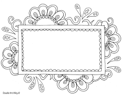 Coloring pages are all the rage these days. Name Templates Coloring Pages Doodle Art Alley