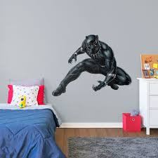 black panther life size officially licensed marvel removable wall decal fathead