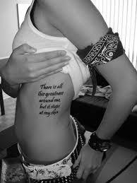 Rib Cage Název Tattoo Idea