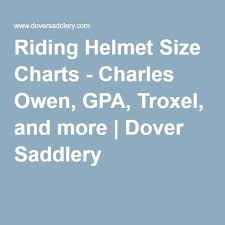 Riding Helmet Size Charts Charles Owen Gpa Troxel And