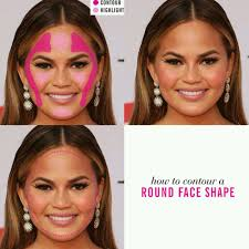 how to makeup tips contour and highlight strobing a round face shape