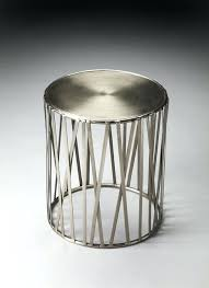 silver drum table iron contemporary side tables and end by nz round coffee freedom