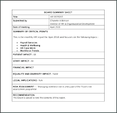 Monthly Board Report Template Health And Safety Payroll
