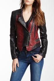 image of members only two tone washed leather jacket