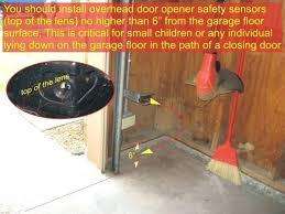 garage door safety sensors garage door sensors installation height requirement genie garage door safety sensor bypass