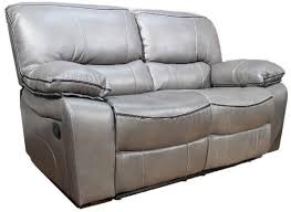beaumont leather sofa grey recliner 3