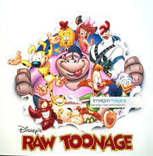 RAW TOONAGE, top from left Marsupilami, Jitters A Dog, Fawn Deer, Maurice  the Gorilla (center), bo