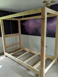 How to Build a DIY Canopy Bed Frame - Semigloss Design