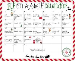 Elf A Shelf Calendar 2