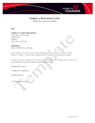 sample retirement letter to employer