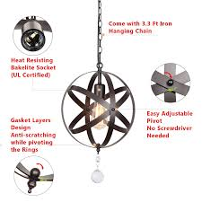 pendant light cord with switch awesome creatgeek industrial globe chandelier with 15 ft plug in cord