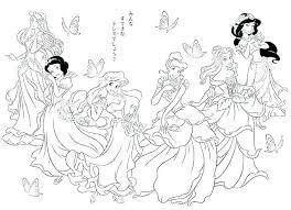 Coloring Pages Disney Princesses Coloring Page Princess Coloring