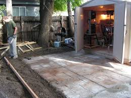 Making Cement Forms How To Make A Nice Cement Patio 4 Steps With Pictures