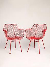 metal mesh patio furniture. Vintage Red Mesh Metal 1950\u0027s Chairs Patio Furniture N