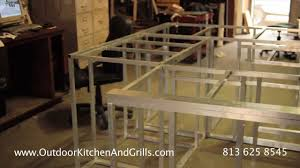 how to build outdoor kitchen aluminum frame for outdoor kitchen and grills frames