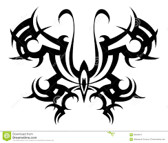 Tribal Tattoo Vector Tribal Stencil Butterfly Abstract Black