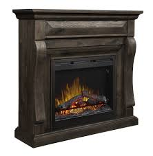 dimplex samuel mantel electric fireplace with logs weathered grey com
