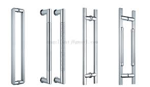 office door handles. Wonderful Door Simple Style 201 304 Stainless Steel Office Glass Door Handle Silver Polish  Or Brush Finish Throughout Handles L