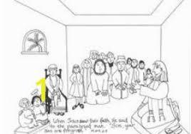 Four Friends Help A Paralyzed Man Coloring Pages 13 Best Jesus Heals
