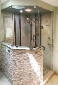 custom swinging in out shower door
