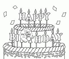 Big Cake Happy Birthday Coloring Page