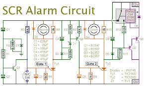 an scr based burglar alarm circuit diagram circuit diagram of an scr based burglar alarm