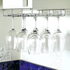 wine glass wall rack hanging stemware rack modern kitchen with minimalist metal hanging stemware rack white