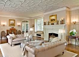 view in gallery bright living room with two chesterfield sofas