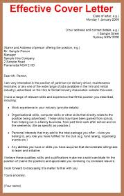 Good Example Of A Cover Letter For A Job Letter Example