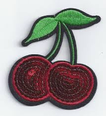 diy embroidered patches elegant double cherry patch iron embroidery sew applique diy heat press of diy
