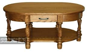 amish coffee table plans oval traditional solid wood twisted leg oak brown amish coffee table