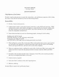 Sample Resume Security Guard Menu Templates Free Download Word