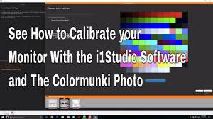 How To Calibrate Your Monitor With The I1studio Software And