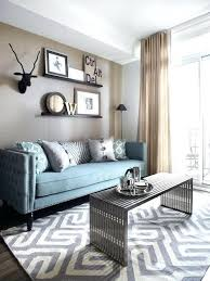elegant furniture and lighting. Small Living Room Ideas Apartment Therapy Lighting Elegant How To Decorate A Decorating Blue Sofa Cushions Furniture And