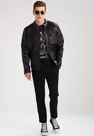 jackets pepe jeans men clothes cinnamon leather jacket 999 xsr6dov