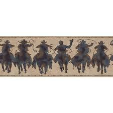48 western cowboy wallpaper borders