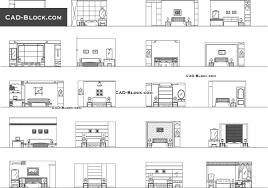 bedroom elevation cad blocks autocad file