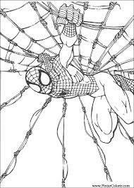Disegni Per Dipingere Colour Spiderman Stampare Realizzazione 060