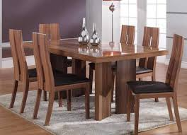 wood dining room furniture with unique finish