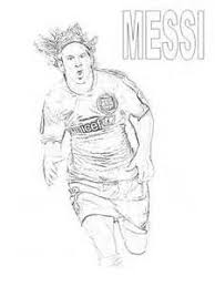 Handsome Face Soccer Coloring Pages Lionel Messi Free Printable