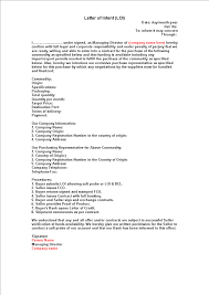 Letter Of Origin Free Sample Contract Letter Of Intent Templates At