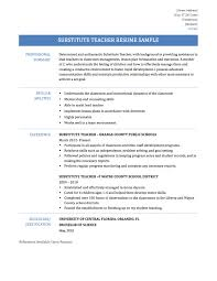 Job Description For Substitute Teacher For Resume Substitute Teacher Resume Job Description Enchanting For Skills 5