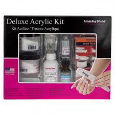 professional acrylic nail starter kit. acrylic nail kits : amazing shine delux professional false starter kit